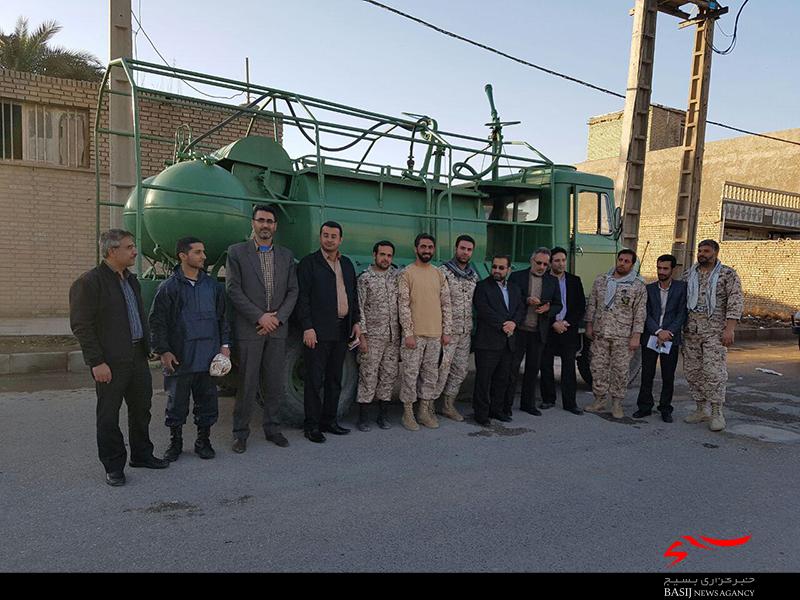 رفع مشکل قطعی برق توسط بسیجیان حوزه شهید عباسپور صنعت آب و برق خوزستان