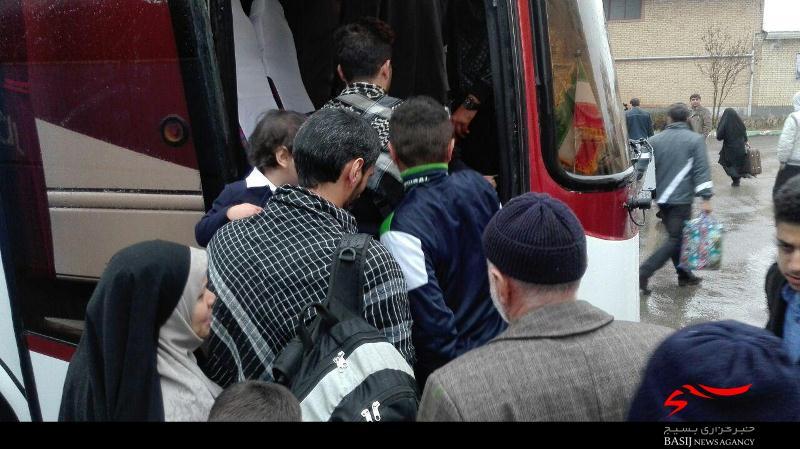 هوای عید نوروز 96 تبریز اعزام خانواده ها به کربلای ایران + تصویر