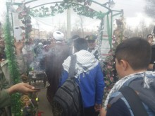 اعزام اولین کاروان دانش آموزی اردبیل به مناطق عملیاتی جنوب