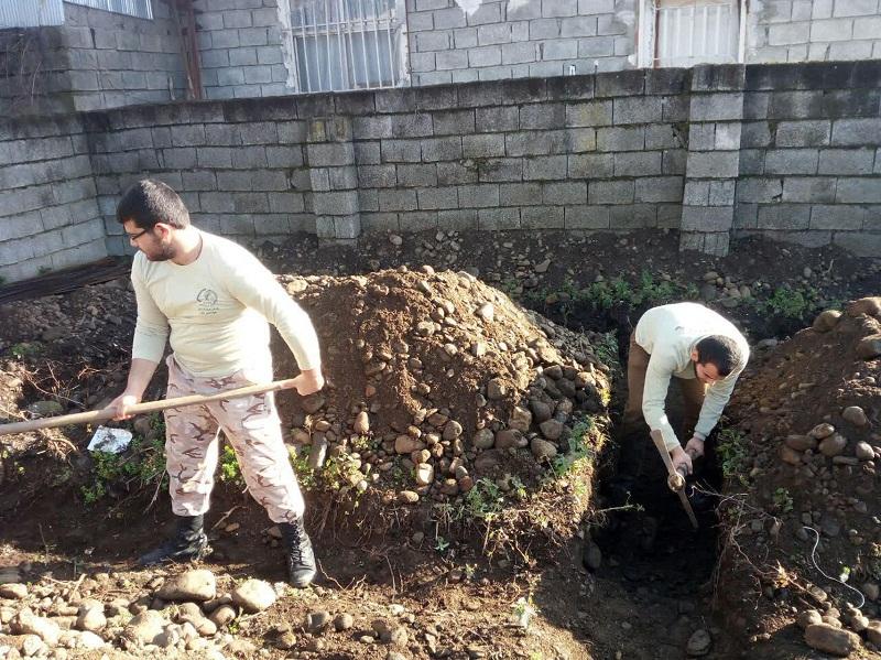 آغاز ساخت مسکن مددجویان در روستای کیاگهان بخش کومله لنگرود+تصاویر