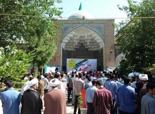 تجمع بزرگ طلاب و روحانیون تهران با عنوان «روحانیت صدای مردم» در حوزه علمیه مروی برگزار شد