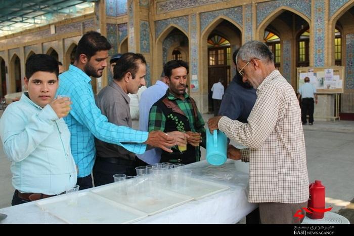 مراسم پرفیض دعای عرفه در برازجان برگزار شد