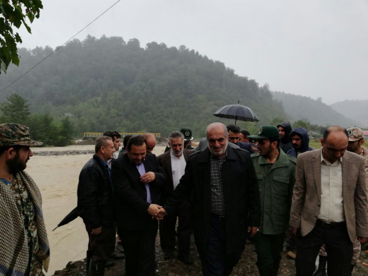 بازدید فرمانده سپاه قدس گیلان از مناطق سیل زده در تالش+تصاویر