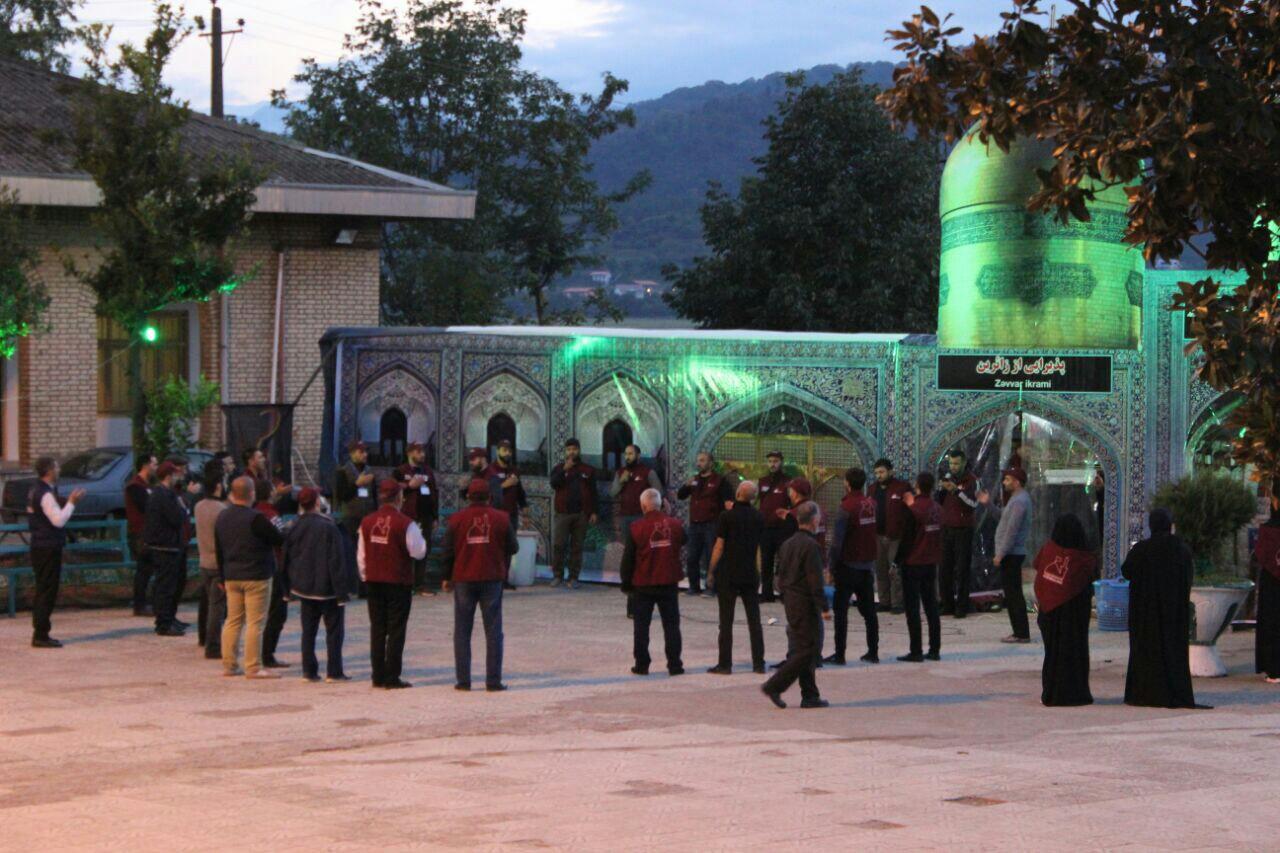 گزارش تصویری استقبال از زائرین اربعین حسینی آذربایجان و حوزه قفقاز با همت سپاه قدس گیلان
