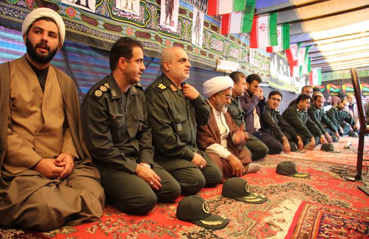 بازدید فرمانده سپاه قدس گیلان از موکب های اربعین مستقر در آستارا+تصاویر