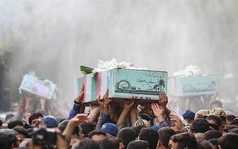 گرامیداشت سالگرد خاکسپاری ۲ شهید گمنام در دانشگاه پیامنور کرج برگزار شد