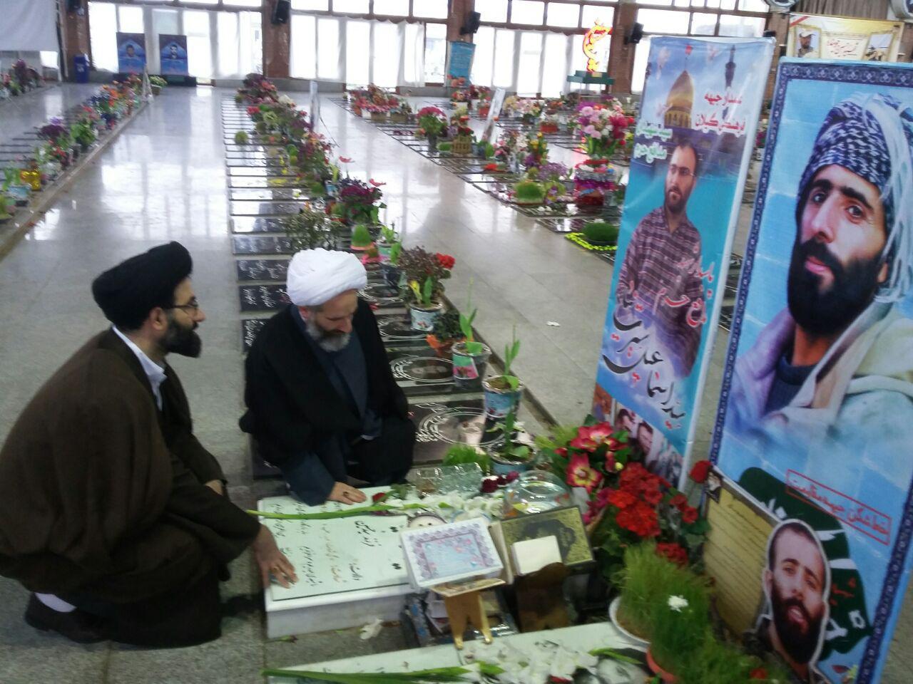 تجدید میثاق حجت الاسلام والمسلمین مهدوی با آرمان های شهدا در آغازین روزهای پذیرش مسئولیت + تصاویر