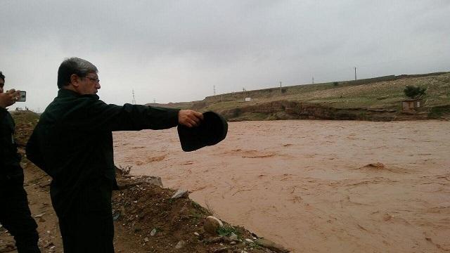 بازدید معاون اجرایی سپاه تهران بزرگ از سد آبی خاکی کرخه
