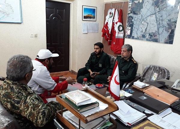 نشست هماهنگی با مسئولان هلال احمر شهرستان شوش برگزار شد