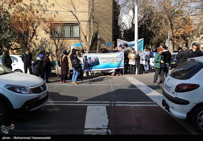 تجمع جانبازان و ایثارگران در اعتراض به ترور سردار سلیمانی و حمایت از سپاه