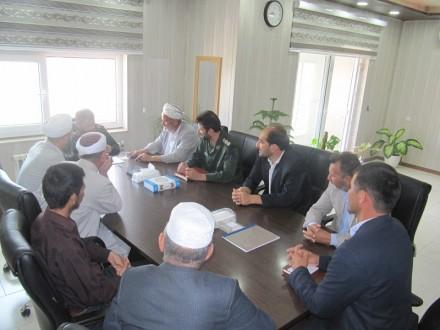 دیدار امام جمعه و علمای اهل سنت نیاز آباد با سردار معروفی