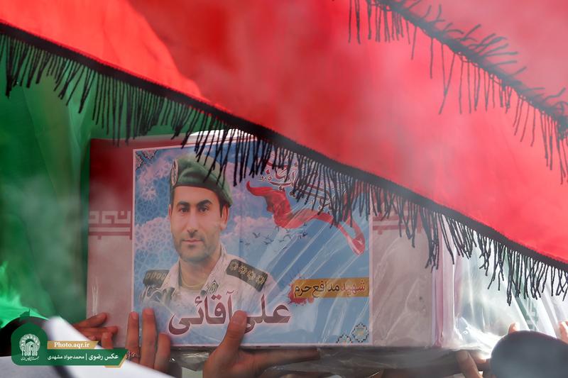 دعوت سپاه حضرت عباس(ع) رای مراسم باشکوه تشییع شهید مدافع حرم علی آقایی در اردبیل