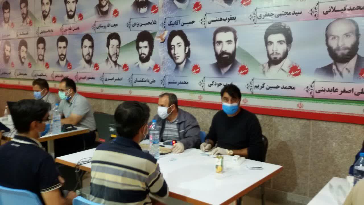 طرح واکسیناسیون کوید 19 باهمت پرسنل واحدبهداشت و پایگاه بسیج شرکت سیمان تهران
