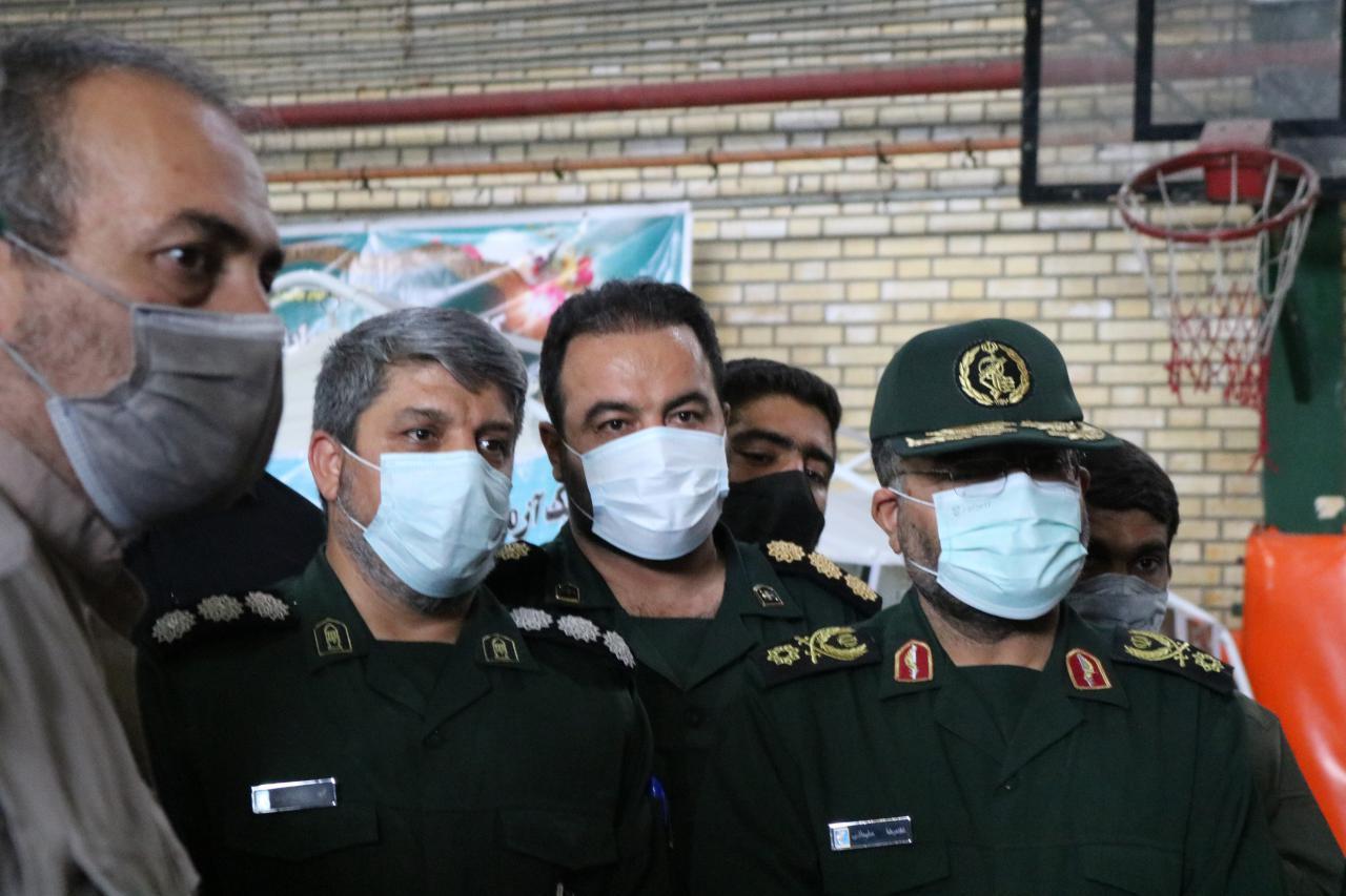 بازدید ریاست محترم سازمان بسیج مستضعفین از مرکز واکسیناسیون شهر ری
