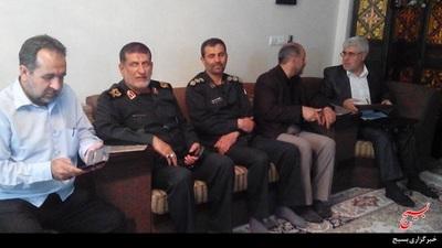 دیدار سردار با خانواده شهید مدافع حرم محمد حمیدی
