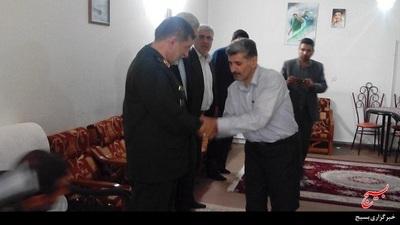 دیدار سردار با خانواده شهید مدافع حرم حاج مهدی عسگری