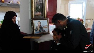دیدار سردار با خانواده شهید مدافع حرم قدرت ا... عبدیان