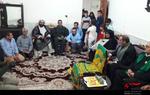 حضور خدام در منزل شهید اردشیر کرمی و شهید مراد احمدی کریموند